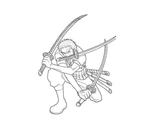 piece roronoa zoro coloring page  printable