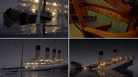 titanic sinking animation real time simulation of the titanic sinking in real time