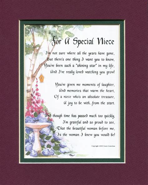 special niece  family members genies poems  birthday poems wedding poems