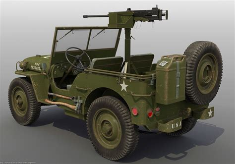 Willys U S Army Jeep Rod Deweese 3d Vehicle