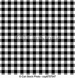 Plaid Noir Et Blanc : illustrations de blanc plaid noir vichy seamless ~ Dailycaller-alerts.com Idées de Décoration