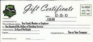 detailing knights auto detailing car cleaning services toronto gta With auto detailing gift certificate template