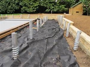structure de terrasse en bois deck de piscine sans plots beton With maison bois sur plots 1 fondation et dalle pour une nouvelle construction