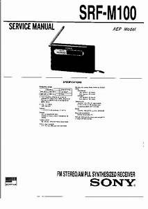 Sony Srf-m100 Service Manual