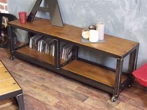 Meuble Bois Metal : univers maison meuble salon ~ Teatrodelosmanantiales.com Idées de Décoration