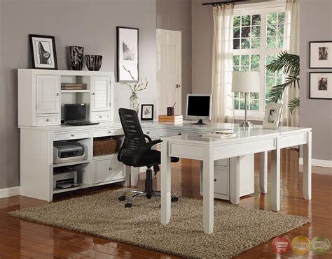 u shaped home office desk boca transitional white modular u shaped office furniture