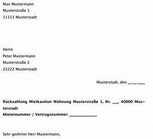 Vermieter Zahlt Kaution Nicht : musterschreiben aufforderung zur r ckzahlung der mietkaution ~ Yasmunasinghe.com Haus und Dekorationen