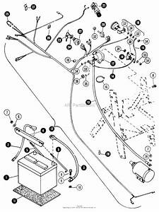 Snapper 1650a  80524  16 Hp Hydro Drive Garden Tractor  Mf  Parts Diagram For Electrical System