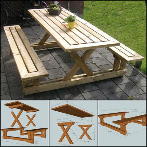 picnic table tutorial outdoor diy diy