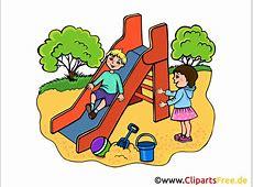 Rutsche auf Spielplatz Kindergarten Bilder, Cliparts