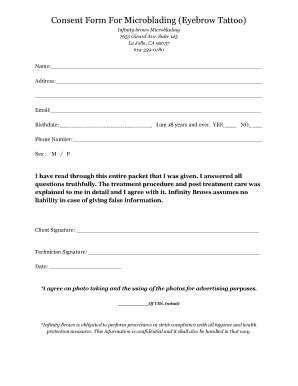 consent form for microblading fillable generic microblading consent form edit online