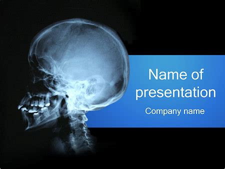 human skull powerpoint template backgrounds id
