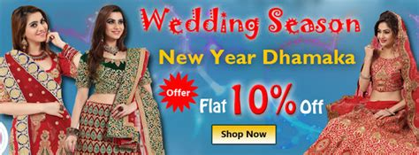 online shopping new year kurtis 2016 new year wedding season discount offer on sarees
