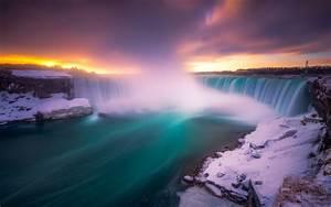 Niagara, Waterfalls, In, Winter, Three, Waterfalls, That, Are, On