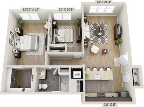 20+ Comely Two Bedrooms Apartments