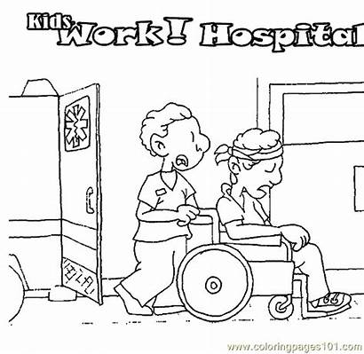 Doctor Coloring Hospital Pages Doctors Printable Coloringpages101
