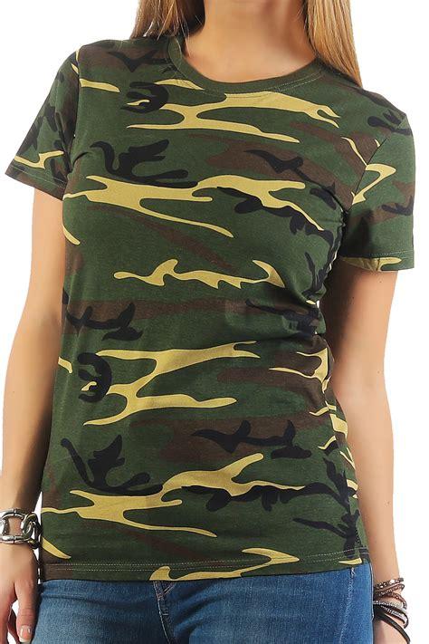 damen camouflage t shirt sunset