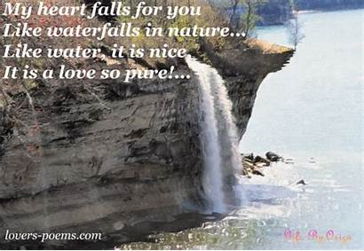 Quotes Waterfalls Waterfall Sayings Poems Quotesgram Messages