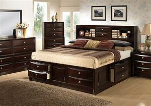 Storage bedroom furniture electra king storage bedroom for Furniture and mattress warehouse king