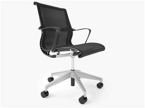 herman miller setu office chair 3d model max obj fbx mtl