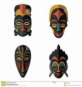 African Masks Set Royalty-Free Illustration