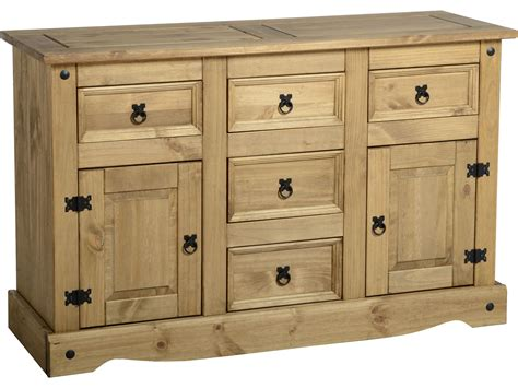How To Sideboard by Corona Mexican Pine Sideboards 2 Door 5 Draw Sideboard