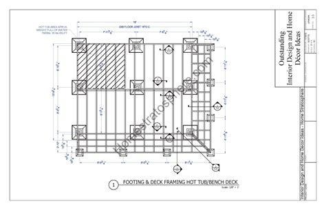design blueprints tub deck design plan free pdf