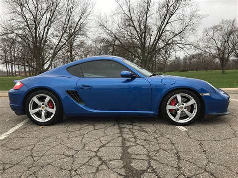 porsche custom paint 2006 cayman s sapphire blue metallic custom paint