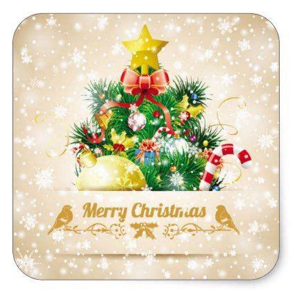 beautiful christmas sticker  sparkling snow zazzle