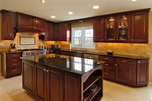 kitchen counter decor ideas rich cherry kitchen traditional kitchen chicago by