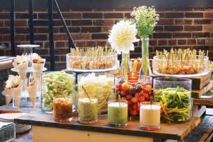 crudite dip and shrimp display on an antique cart by l eat catering in toronto 10 creative