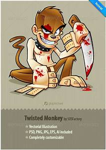 Twisted Monkey mascot design | GraphicRiver