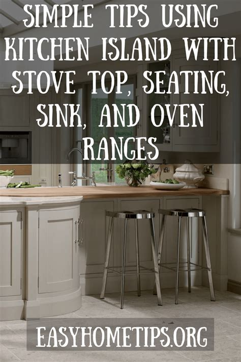 kitchen island  stove top seating sink  oven ranges