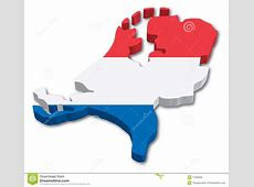 Flag Map of Holland stock vector Illustration of national