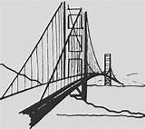 Bridge Coloring Gate Golden Buildings Architecture Printable sketch template