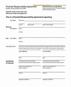 co parenting contract agreement template 28 images With responsibility contract template
