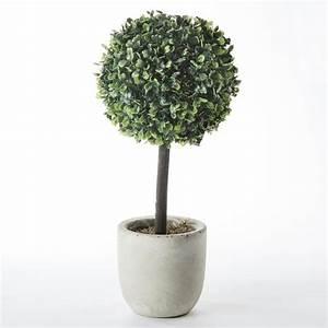 Boule De Buis Artificiel : arbuste boule de buis artificiel avec pot en r sine h40cm ~ Melissatoandfro.com Idées de Décoration