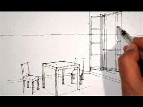 table chaise exterieur dessiner en perspective intérieure table chaises fenêtre