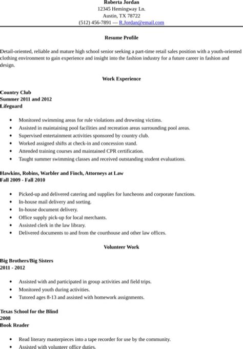 high school resume template for excel pdf and word