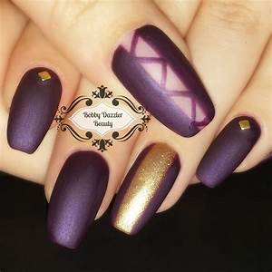 Matte Purple Nail Polish | Best Nail Designs 2018