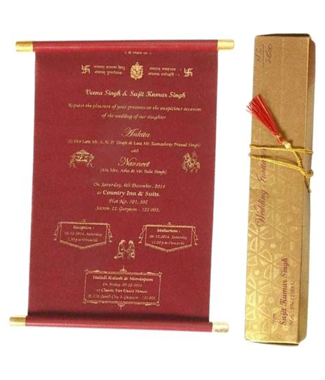 nakoda cards golden crimson lagna patrika pack