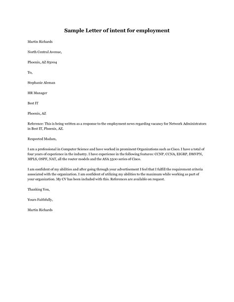 sle letter of intent sle of letter of intent for employment 28 images 6966
