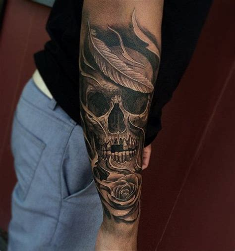 awesome skull tattoo designs sleeve awesome  tattoo sleeves