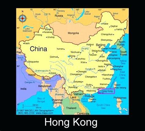 hong kong  china map heresthethingme