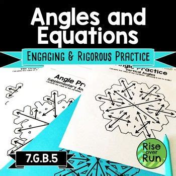 angles  equations practice winter math activity