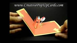 teddy bear birthday pop up card youtube With teddy bear pop up card template free