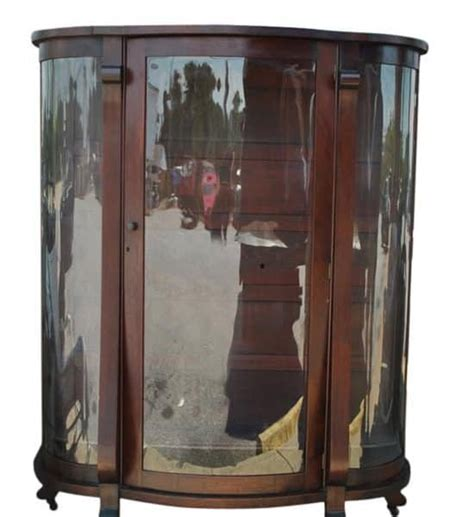 bow front curio cabinet antique bow front mahogany curio cabinet 61 quot h