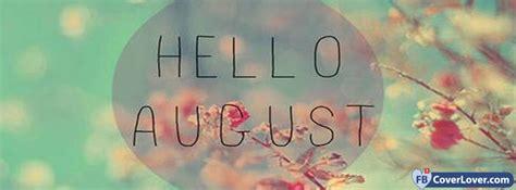 Hello August Trees seasonal Facebook Cover