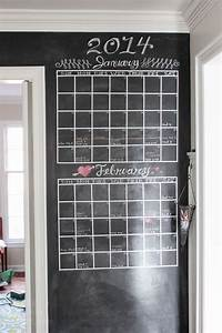 Two Month Calendar Diy Chalkboard Wall Calendar Pretty Handy Girl