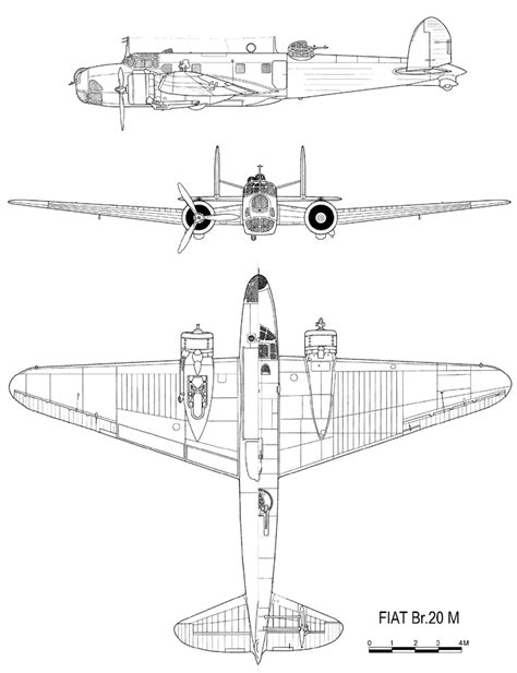 Fiat Br by Drawing Fiat Cicogna Br 20m